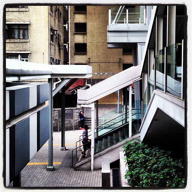 #urban #architecture - sharp #angles and #lines. #hongkong #hk #hkig