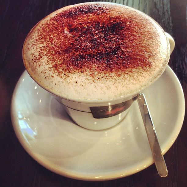 A #cappuccino at Kaffe'nation #cafe in #yautong. #hongkong #coffee #hk #hkig