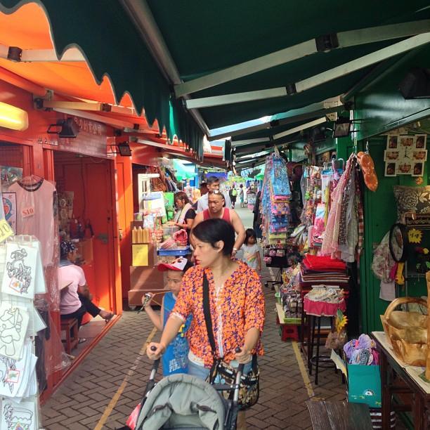 A #lady with #stroller at the #KamSheung Road #FleaMarket. #hongkong #hk #hkig #market