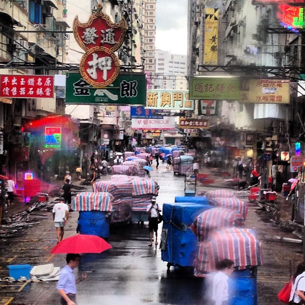 A #rainy #morning on #tungchoi #street in #mongkok. #hongkong #hk #hkig