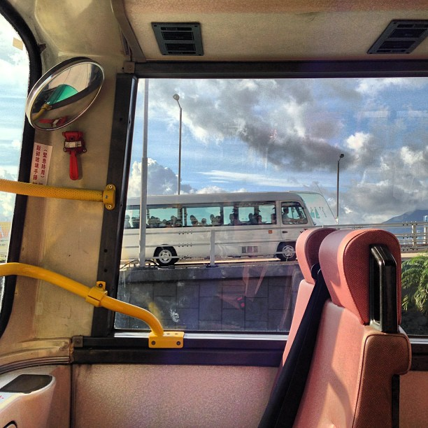 An #empty #seat on the #bus becomes a #window #painting. #hongkong #hk #hkig