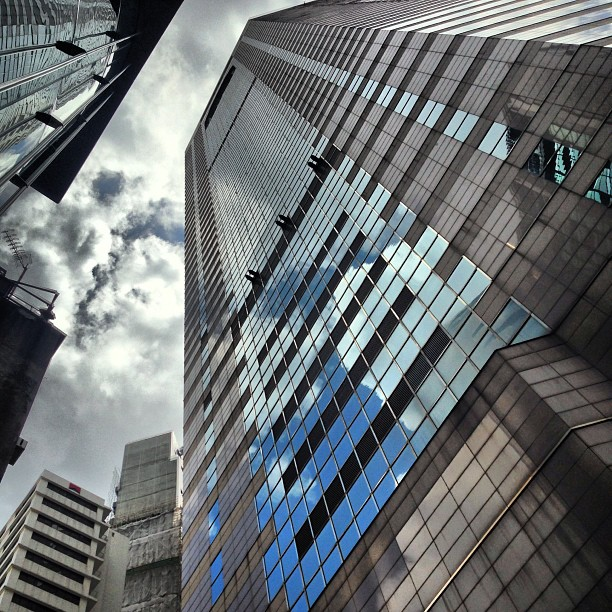 Looking up - a dramatic #angle of Times Square in #causewaybay. #hongkong #hk #hkig