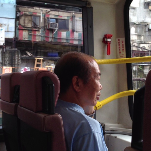 On the #bus - the scenery moves by and an #old #man chatters on. #hongkong #hk #hkig #hkvideo #instavid
