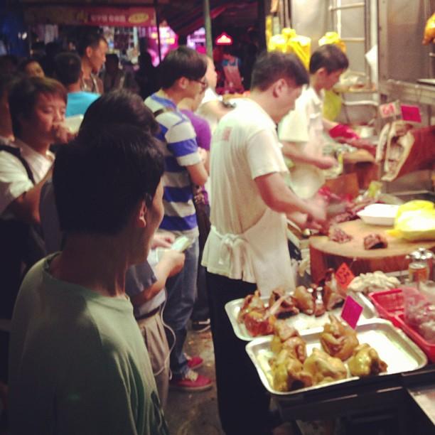 People buying #roast #meat for #dinner. #hongkong #hk #hkig