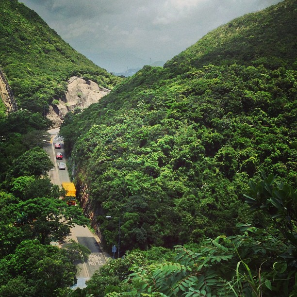 #Stanley #Gap #road cuts through the #hills. #hiking #hongkong #hk #hkig