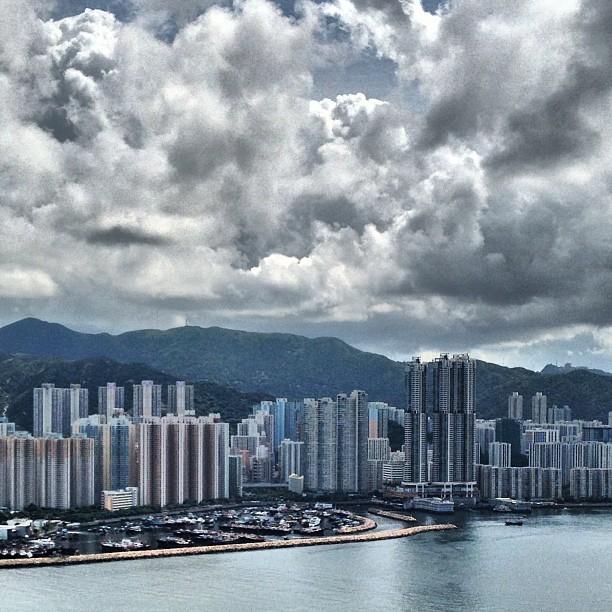 The #shaukeiwan #typhoon #shelter as seen from #devilspeak. #hiking #hongkong #hk #hkig