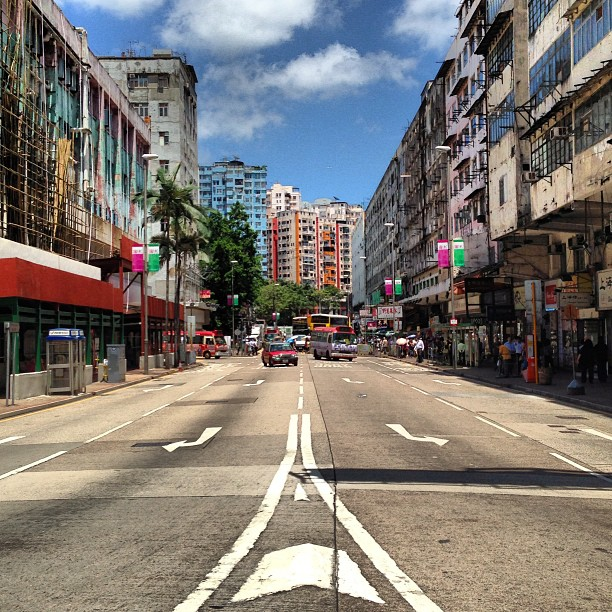 a #fork in the #road in #ngautaukok. #hongkong #hk #hkig