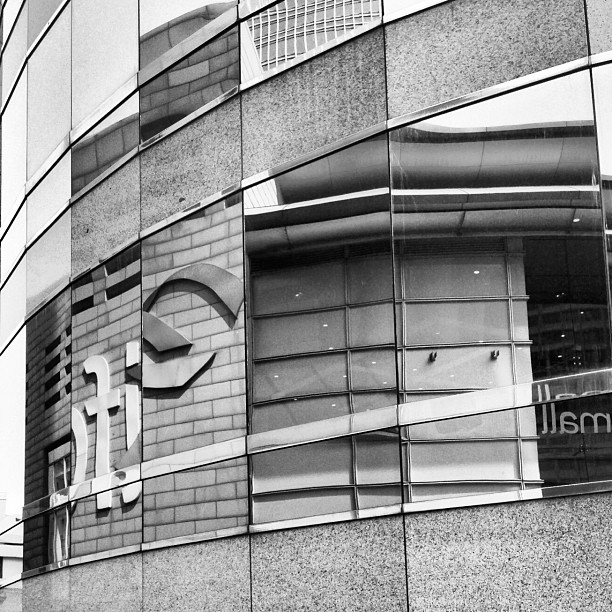 #abstract - chopped up #reflections of #IFC #mall. #hongkong #hk #hkig #mono