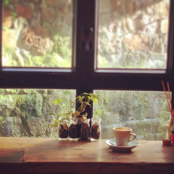 #coffee in the #evening by the #window. #hongkong #cafe #hk #hkig