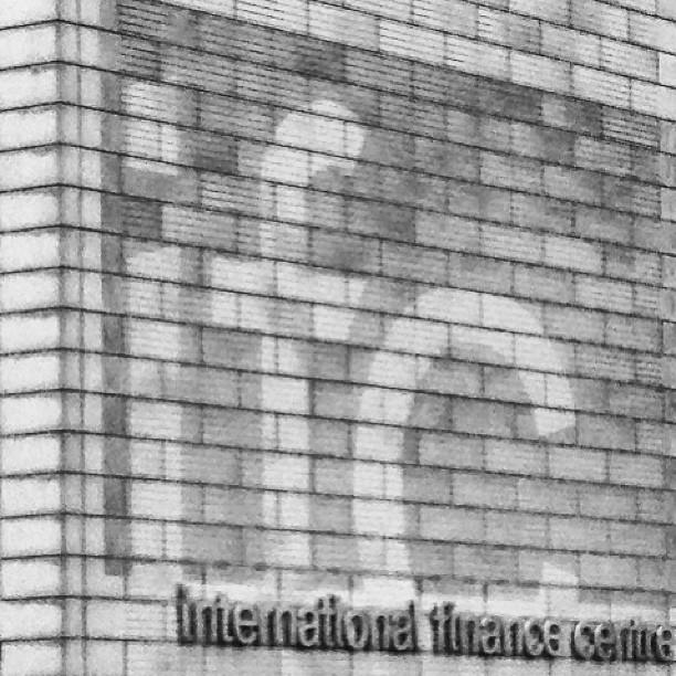 #faded #ifc on a #grey #brick #wall. #hongkong #hk #hkig