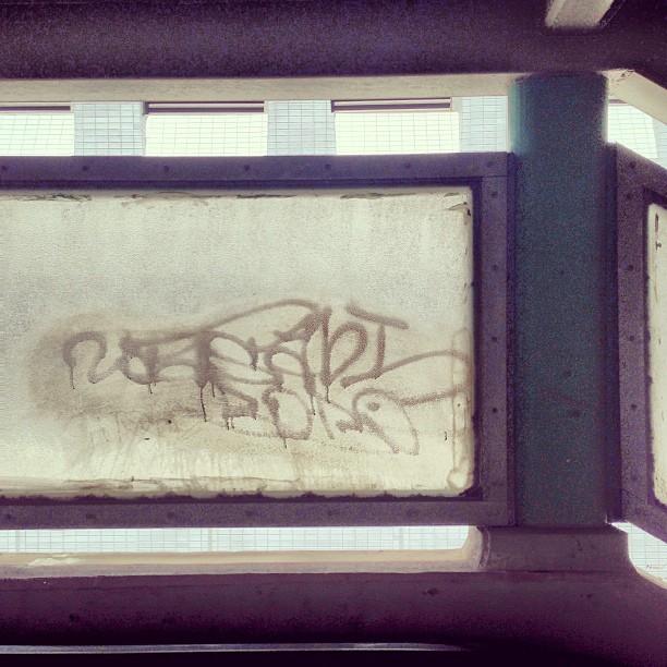 #graffiti on frosted glass. #hongkong #hk #hkig