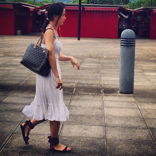 #lady in #white - #ladies #style out in the #newterritories. #fashion #hongkong #hk #hkig