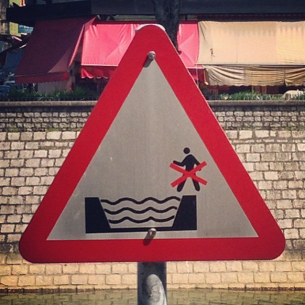 #river #sign spotted in #taipo. No Jesus-ing. Leave the #walking on #water to professionals. #hongkong #hk #hkig