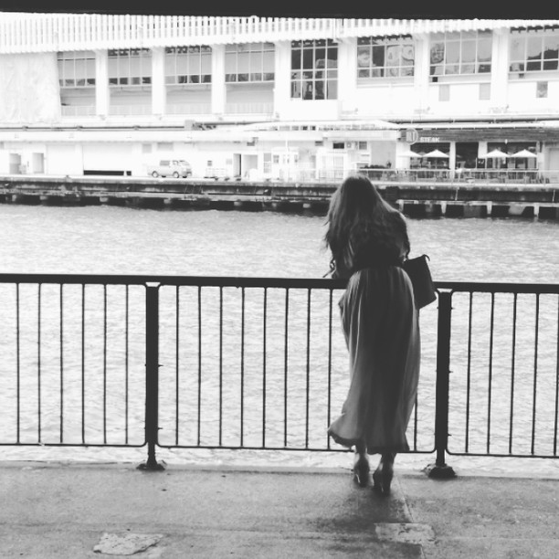 #silhouette of a #lady at the #pier. #hongkong #hk #hkig #hkvideo #instavid #style #fashion #mono