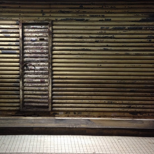#urban #decay - and #old #rusty #metal #shutter. #hongkong #hk #hkig