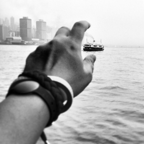 Catching the #StarFerry on #VictoriaHarbour. #hongkong #hk #hkig #ferry #hand #mono