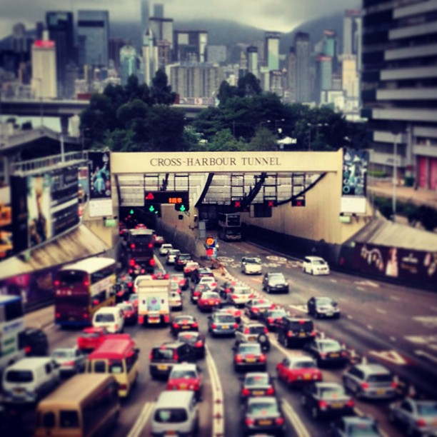 The Cross Harbour #Tunnel links #Kowloon and #HongKong island. #Traffic can get quite heavy during peak hours. #hk #hkig