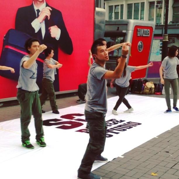 Uh. WTF. Modern interpretive #dance troupe performing on the #TsimShaTsui #pier. #hongkong #hk #hkig #hkvideo #video #instavid #moderndance