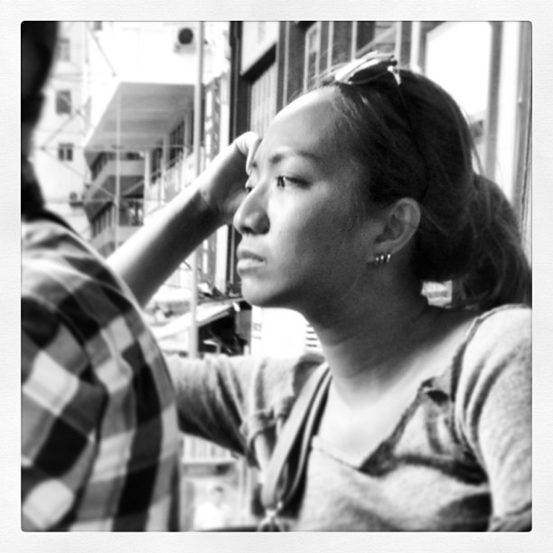 #portrait of a #lady on the #tram. #hongkong #hk #hkig #mono