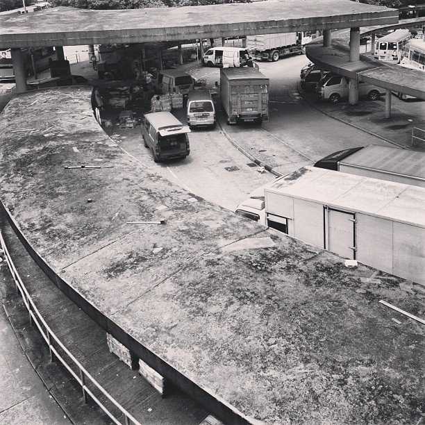 #urban #decay - #KwunTong Bus Terminus. #concrete #mono #hk #hongkong #hkig