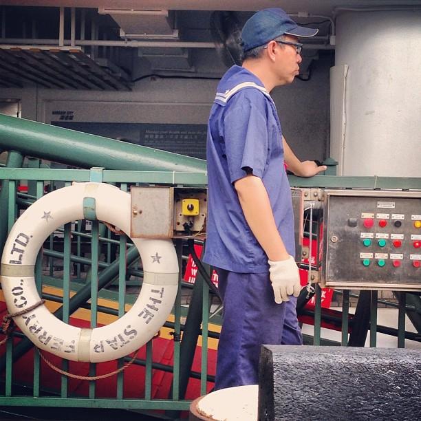 A #dock worker on the #StarFerry #pier. #hongkong #hk #hkig #ferry