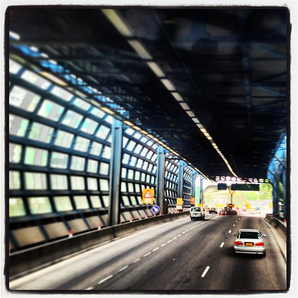 Caught in a #web - a sound barrier #tunnel on a #TuenMun #road / #highway. #hongkong #hk #hkig