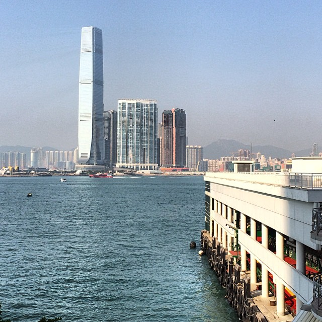 The #Central ferry #pier on #hongkong island, looking out onto #kowloon over #VictoriaHarbour. #hk #hkig