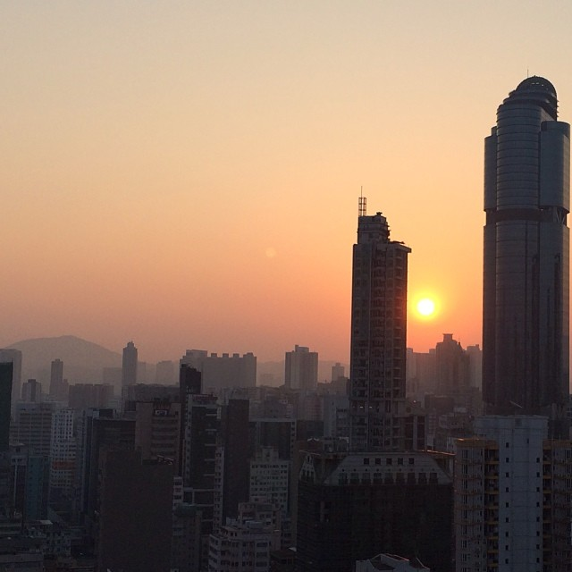 The #morning #sunrise over #mongkok has been rather stunning of late. #hongkong #hk #hkig