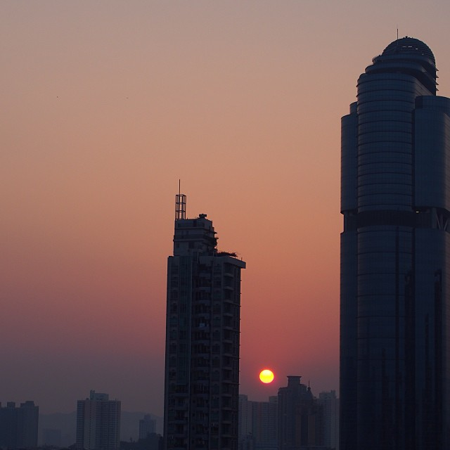 Yet another #sunrise over #mongkok. #hongkong #hk #hkig