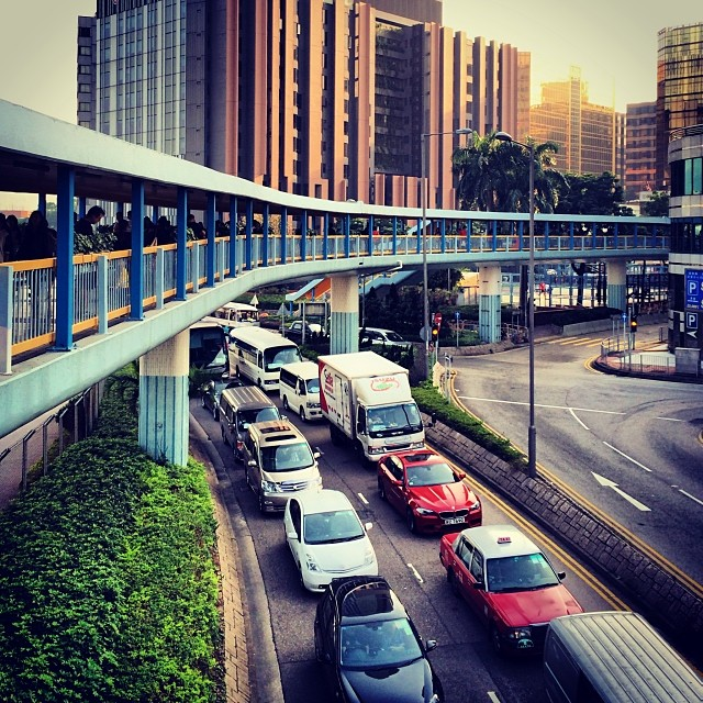 A #HungHom #evening - busy #pedestrian and #road #traffic. #hongkong #hk #hkig
