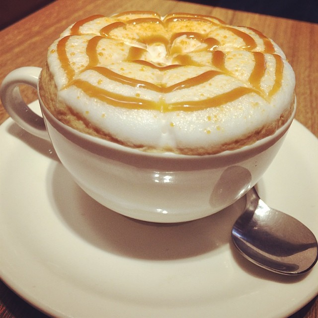 A #McCafé #soufflé #coffee, only available at the #TaiKoo outlet. It's essentially a #cappuccino with a huge heaping of milk macrofoam. #cafe #hk #hongkong #hkig