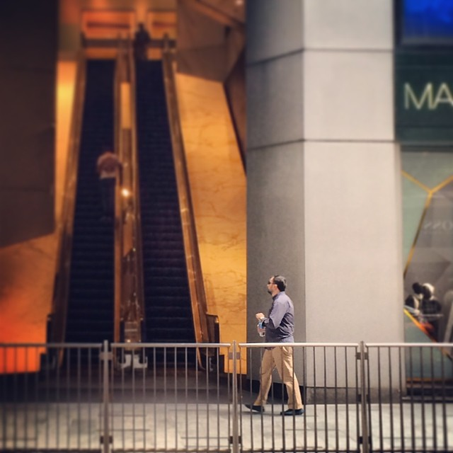 A #man walks thru #quiet #central #streets. #hongkong #hk #hkig