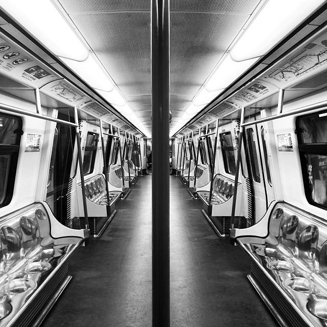 An #empty #MTR #train carriage. #hongkong #hk #hkig