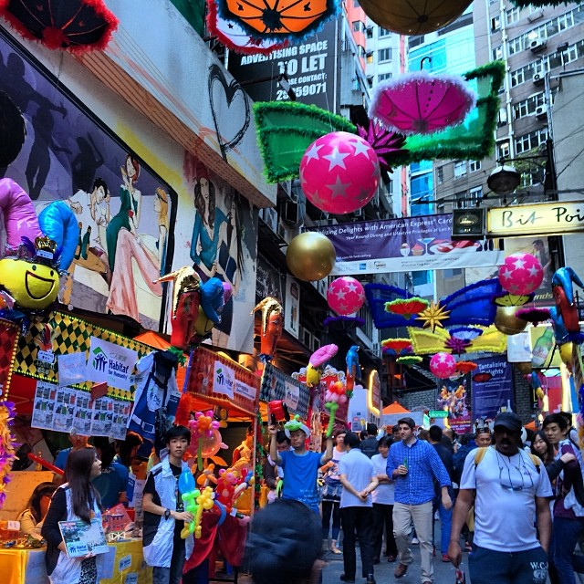 As if they didn't #party every week already: the #LKF #Carnival is a #street party along #LanKwaiFong. #hongkong #hk #hkig