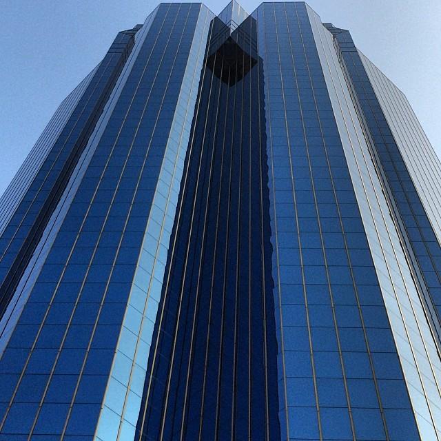 Concordia Plaza #blue - a #building with a pure #glass exterior. #hongkong #hk #hkig