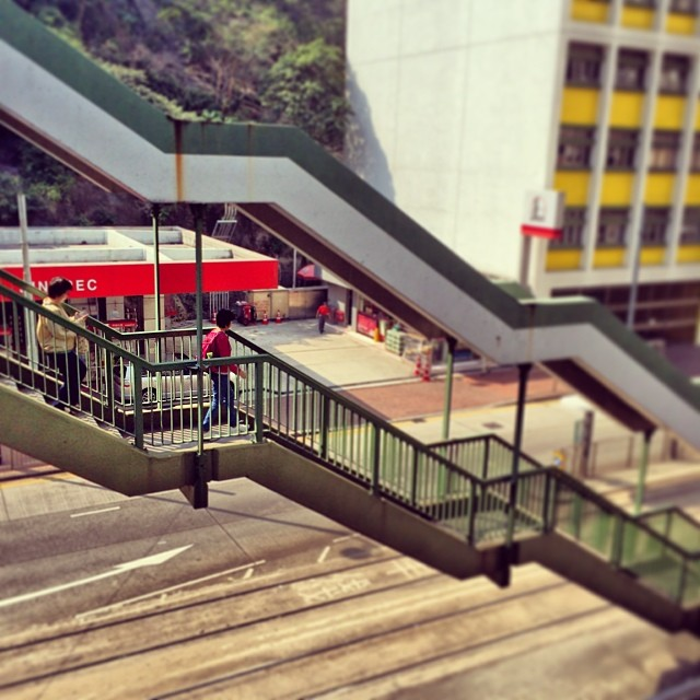 Descent - #stairs down to the tram stop in #QuarryBay #hongkong. #hk #hkig