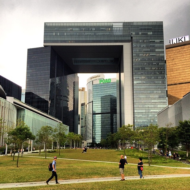 The stunning #architecture of the Government Offices Complex #building as viewed from #Tamar #park. #hongkong #hk #hkig