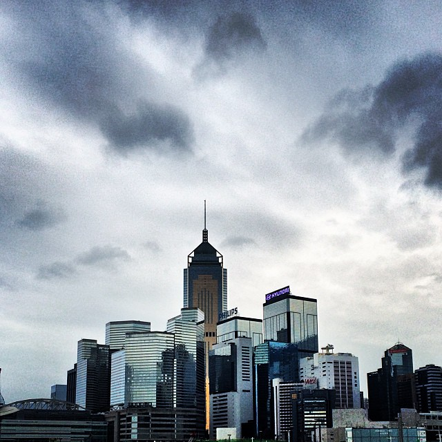 #WanChai in the distance with a backdrop of #stormy skies. #hongkong #hk #hkig