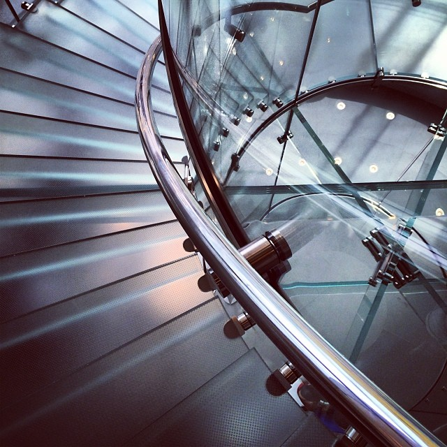 #abstract - the famous #glass #spiral #staircase in the #IFC #mall #AppleStore. #hongkong #hk #hkig