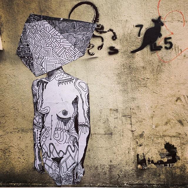 #hongkong paste-up style #graffiti in #sheungwan. #hk #hkig #streetart