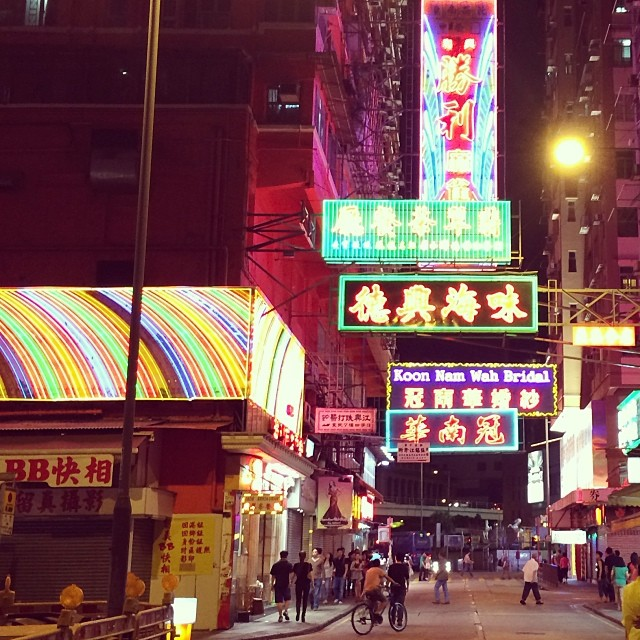 #neon #nights on the #streets of #yaumatei. #hongkong #hk #hkig