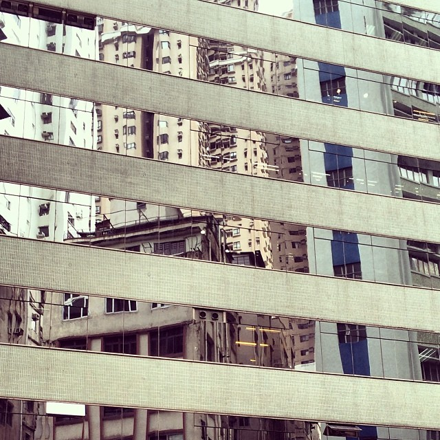 #striped - #reflections of #buildings in #glass. #hongkong #hk #hkig