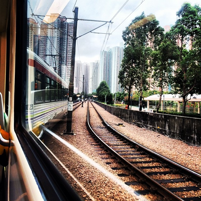 #train #tracks on the #LRT in the #newterritories. #hongkong #hk #hkig