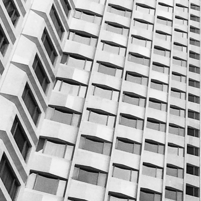 #abstract #patterns in #architecture: the #excelsior #hotel in #causewaybay. #mono #hk #hkig #hongkong