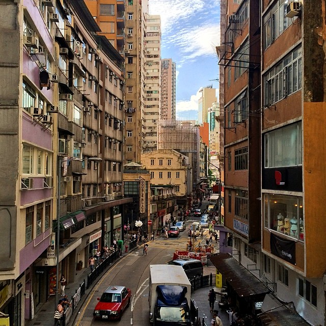 Hemmed in like an #urban #valley, #HollywoodRoad in the #evening. #hongkong #hk #hkig