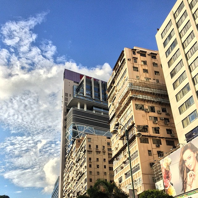 #TsimShaTsui in the #evening, #TheOne towers into the blue sky. #hongkong #hk #hkig #buildings
