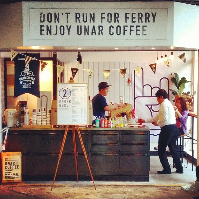 Unar #coffee company has opened a branch at the Star Ferry pier in #TsimShaTsui. #cafe #HongKong #hk #hkig