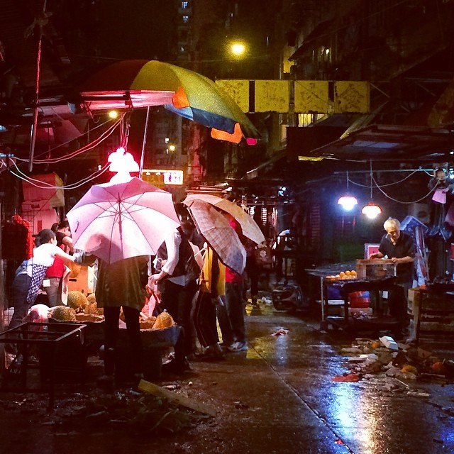 #rainy nights at the #street #market. #rain #hongkong #hk #hkig