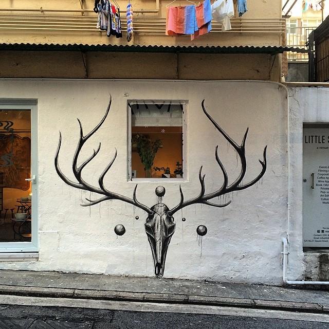 #streetart / #graffiti by Peter Yuill in #sheungwan. #hkwalls #hkig #hk #hongkong