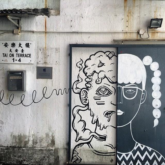#streetart / #graffiti by #usedpencil on #TaiOnTerrace. #hkwalls #hk #hkig #hongkong